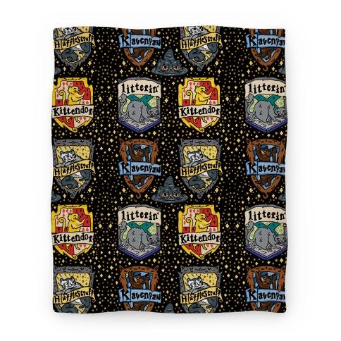 Hogwarts House Cats Blanket