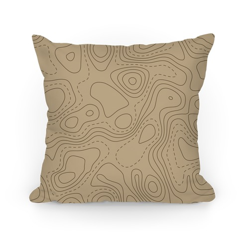 Topographic Map Pattern Pillow