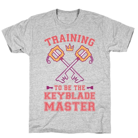 Training To Be The Keyblade Master Mens T-Shirt