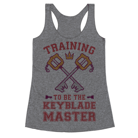 Training To Be The Keyblade Master Racerback Tank Top