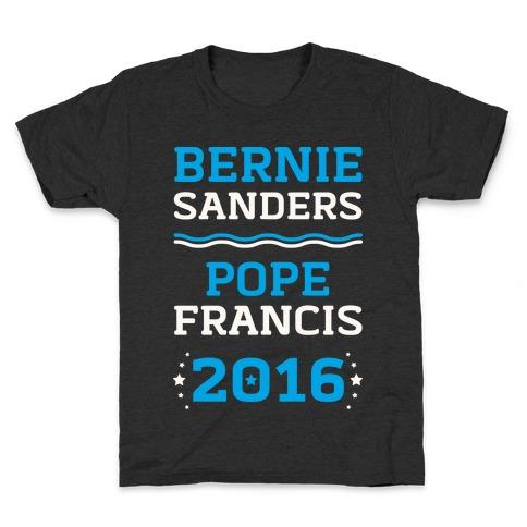 Bernie Sanders / Pope Francis 2016 Kids T-Shirt