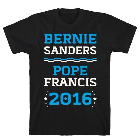Bernie Sanders / Pope Francis 2016 Mens T-Shirt