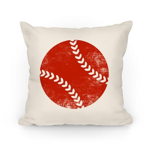 Red Baseball Pillow Pillow