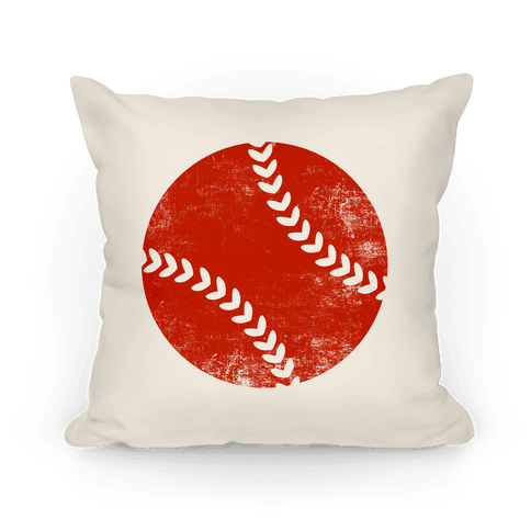 Red Baseball Pillow Pillow
