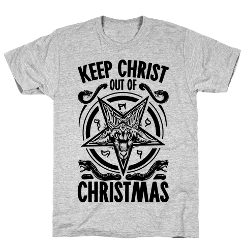 Keep Christ Out of Christmas Baphomet  Mens T-Shirt