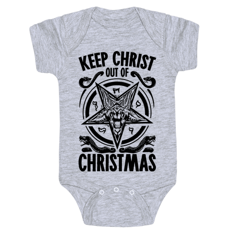 Keep Christ Out of Christmas Baphomet  Baby Onesy