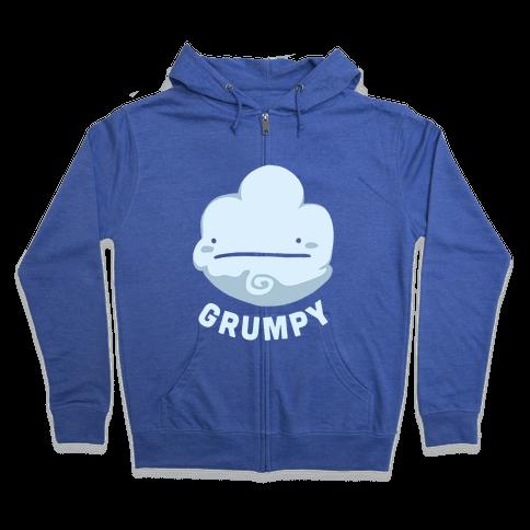 Sun & Grumpy Cloud (Part 1) Zip Hoodie