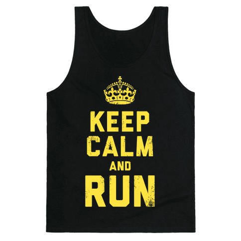 Keep Calm and Run (Dark) Tank Top