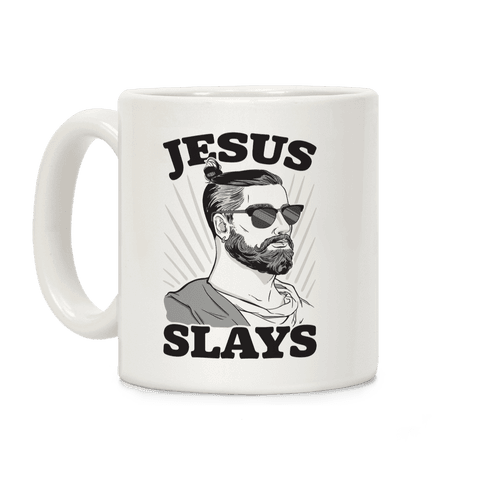 Jesus Slays Coffee Mug