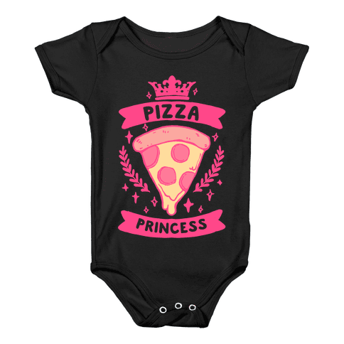 Pizza Princess Baby Onesy