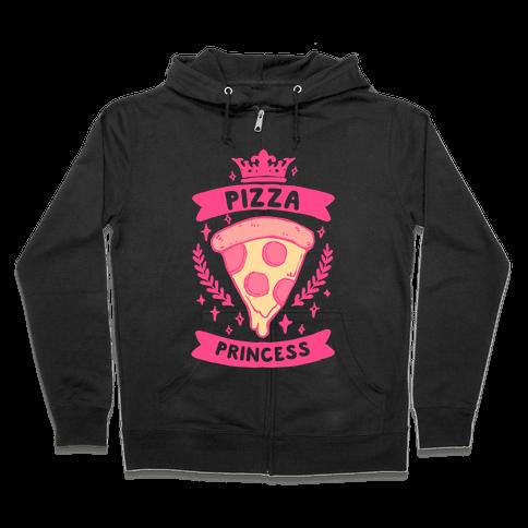 Pizza Princess Zip Hoodie