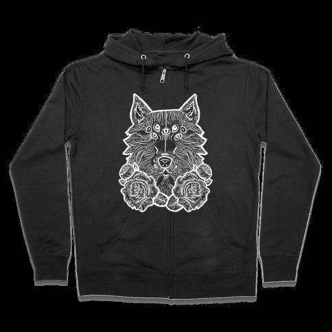 Seven Eyed Wolf Zip Hoodie