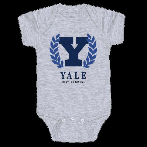 Yale (Just Kidding) Baby Onesy