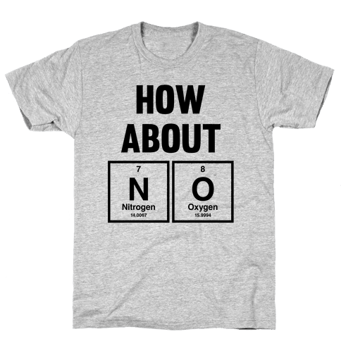 How About No (Chemistry) Mens T-Shirt