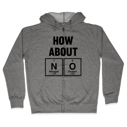 How About No (Chemistry) Zip Hoodie