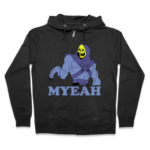 What's Goin' On? Couples Shirt (Skeletor) Zip Hoodie