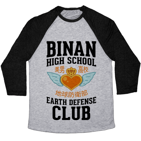 Binan High School Earth Defense Club Baseball Tee