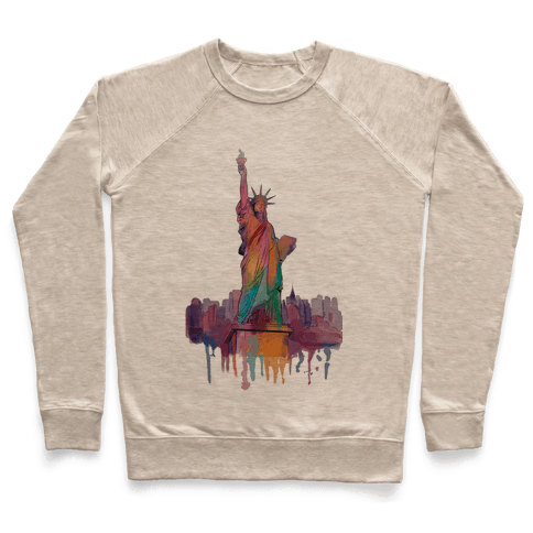 Statue Of Liberty Watercolor Pullover