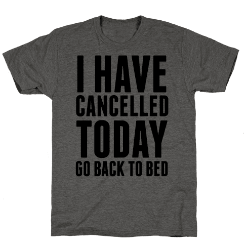 I Have Cancelled Today Mens T-Shirt