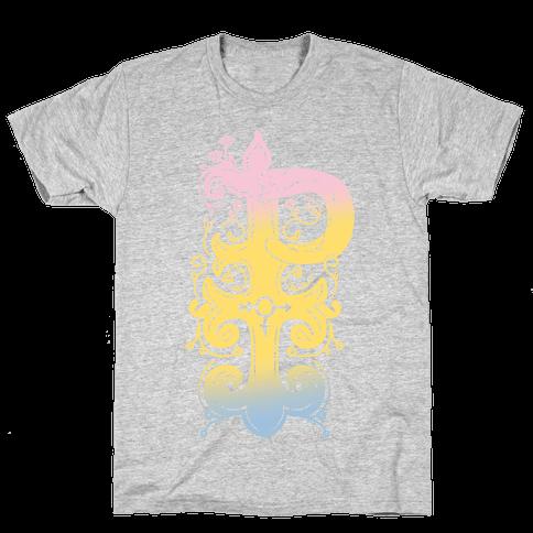 Pansexual Pride Monogram Mens T-Shirt