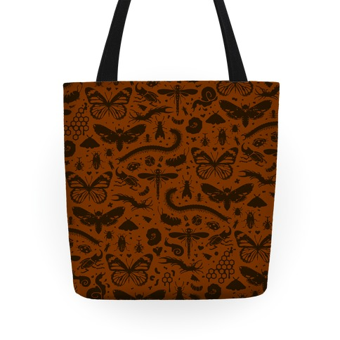 Insect Silhouette Pattern Tote