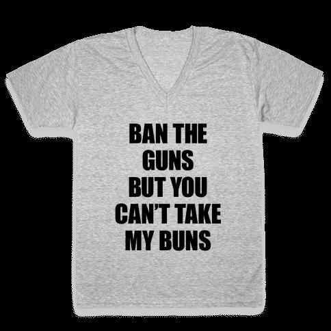 Save the Buns V-Neck Tee Shirt