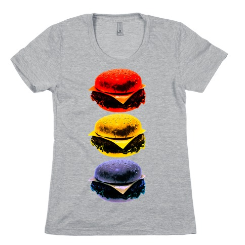 Primary Color Burgers Womens T-Shirt