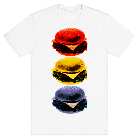 Primary Color Burgers Mens T-Shirt