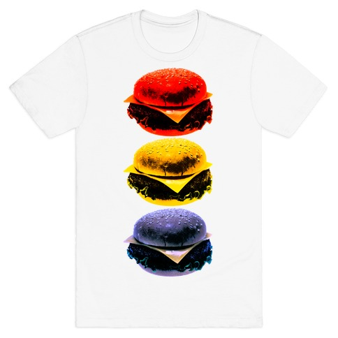 Primary Color Burgers T-Shirt