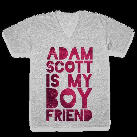 Adam Scott Is My Boyfriend V-Neck Tee Shirt