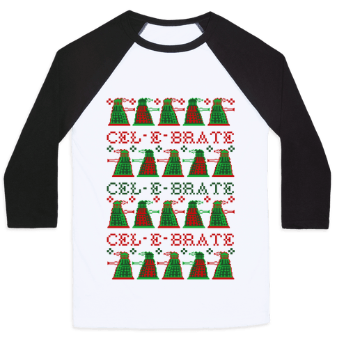 Dalek Ugly Sweater Baseball Tee