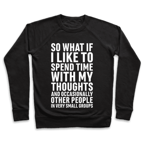 So What If I Like To Spend Time With My Thoughts And Occasionally Other People In Very Small Groups Pullover