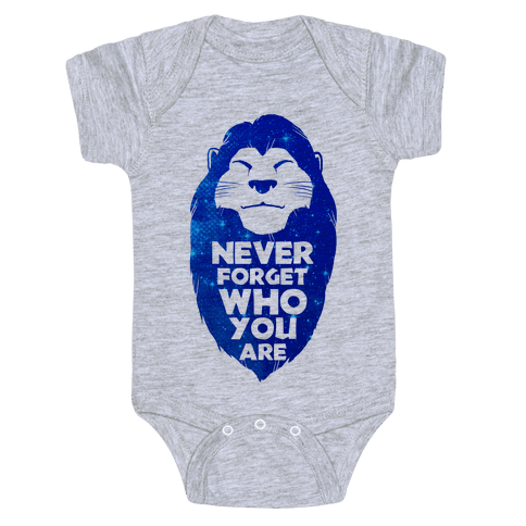 Never Forget Who You Are(Mufasa) Baby Onesy