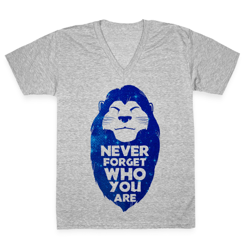 Never Forget Who You Are(Mufasa) V-Neck Tee Shirt