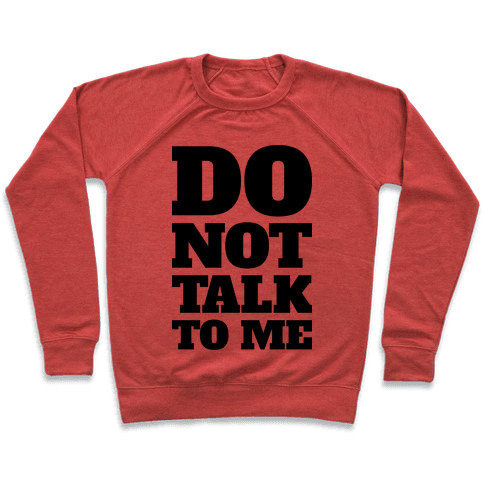 Do Not Talk To Me Pullover
