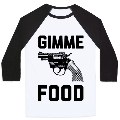 Gimme Food Baseball Tee