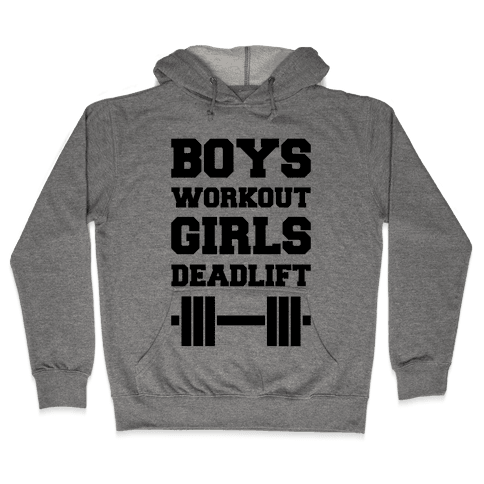 Boys Workout Girls Deadlift Hooded Sweatshirt