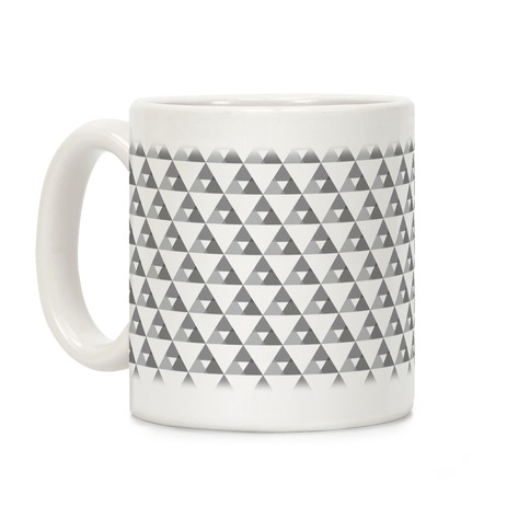 Gray Triangles Pattern Coffee Mug
