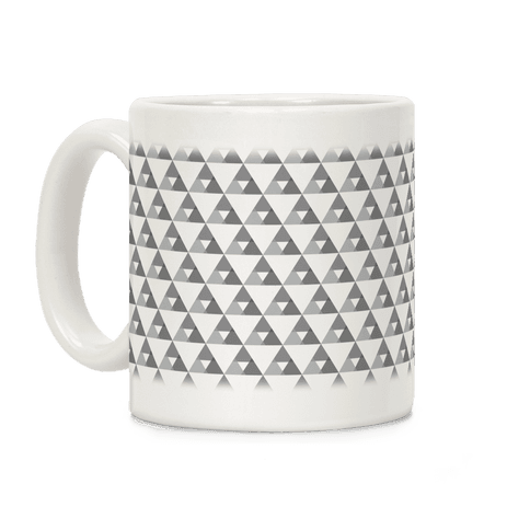 Gray Triangles Pattern Coffee Mug