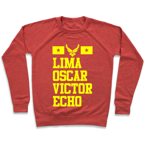 Lima Oscar Victor Echo (Air Force) Pullover