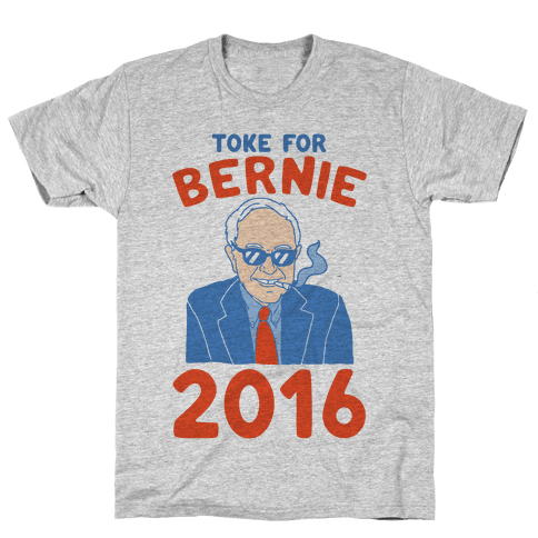 Toke For Bernie 2016 Mens T-Shirt