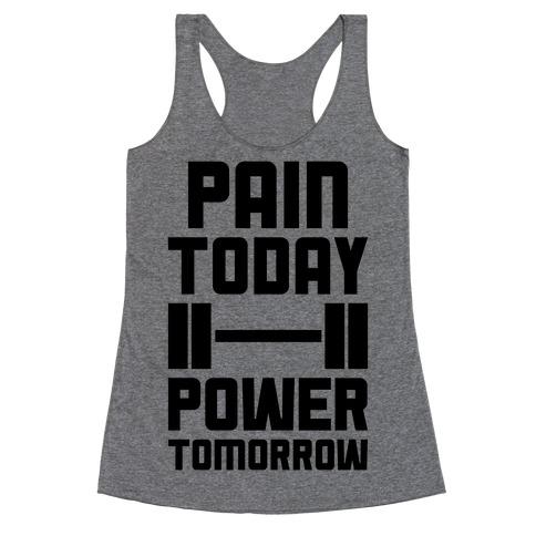 Pain Today, Power Tomorrow Racerback Tank Top
