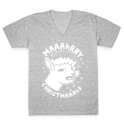 Maaahrry Christmaaahs V-Neck Tee Shirt