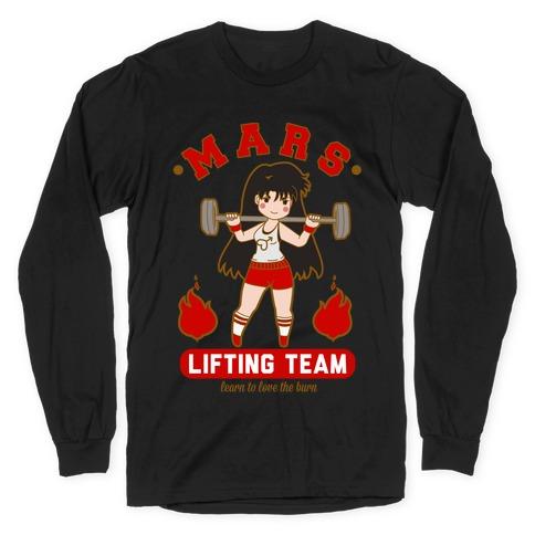 Mars Lifting Team Parody Long Sleeve T-Shirt
