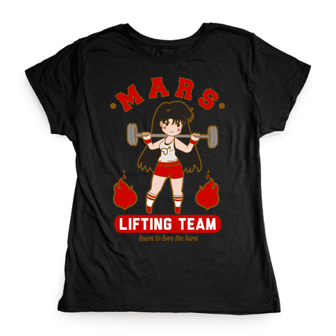 Mars Lifting Team Parody Womens T-Shirt