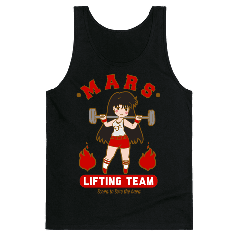 Mars Lifting Team Parody Tank Top