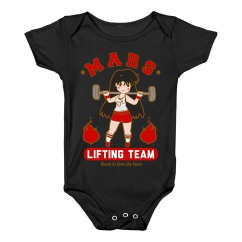 Mars Lifting Team Parody Baby Onesy