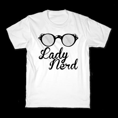 Lady Nerd Kids T-Shirt