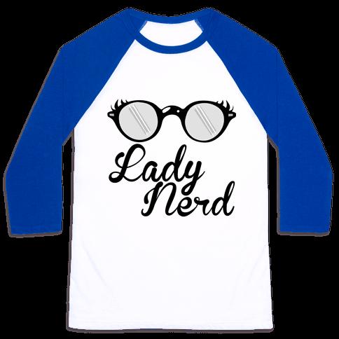 Lady Nerd Baseball Tee