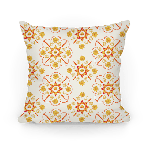Floral Food Pattern Pillow